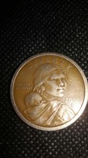 Moneda Liberty,año 2000 One Dollar