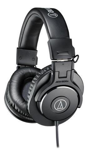 Imagen 1 de 3 de Audífonos Audio-Technica M-Series ATH-M30x negro