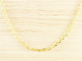 Cordão Corrente Masculina Cordão 50cm 3,5mm Folheada Á Ouro