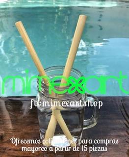 Popotes De Bamboo Paquete De 8