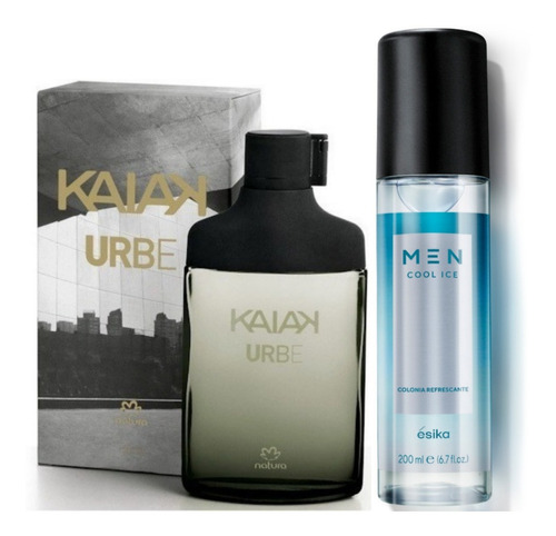 Perfume Kaiak Urbe + Men Cool Ice Esika - mL a $383