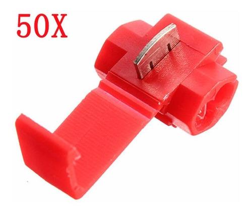 50pçs Conector Elétrico Derivação Emenda Fios  0,5 A 1,5mm