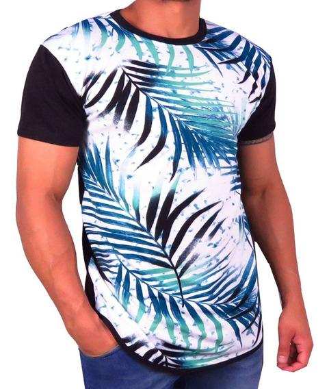 Kit 3 Camiseta Longline Camisa Blusa Masculina Swag Top