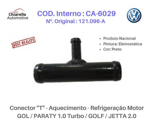 Conector T Refrigeração Gol Parati 1.0 Turbo Golf Jetta 2.0