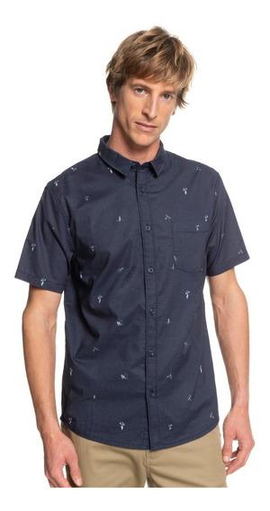 Camisa Quiksilver Hombre Azul Marino Kamakura Eqywt03752bst6