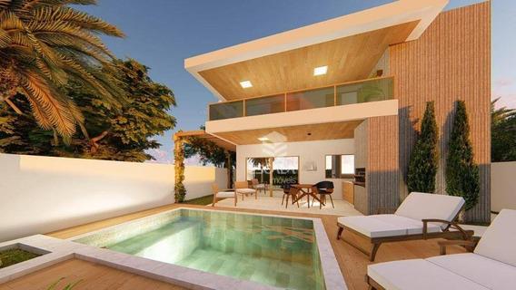 ` Casa Com 4 Quartos À Venda, 267 M², Jardins Das Dunas, Financia - Mangabeira - Eusébio/ce - Ca0286
