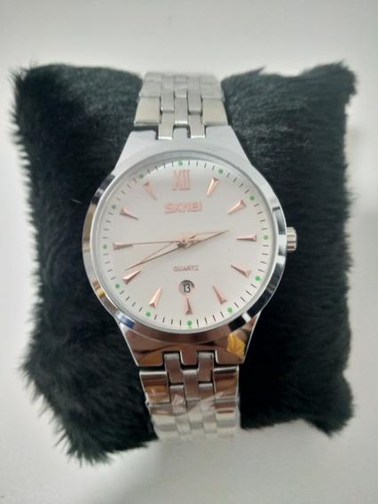 Relógio Feminino Skmei Aço Inox 9071 A Prova Dágua Mulher