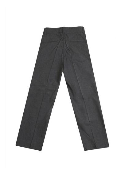 Pantalon Sarga Vestir Tropical Colegial Gris Niño T2 Al 16