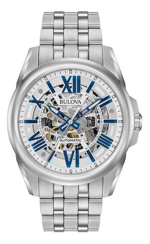 Relógio Masculino Bulova Classic Sutton Automatic Aço 96a187