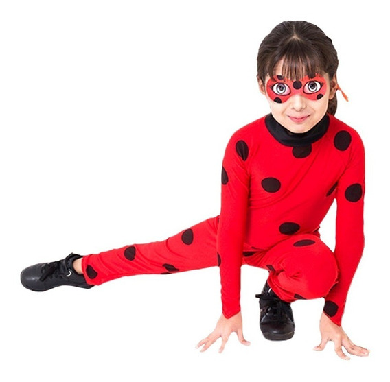 Disfraz Lady Bug Miraculous Licencia Original Antifaz