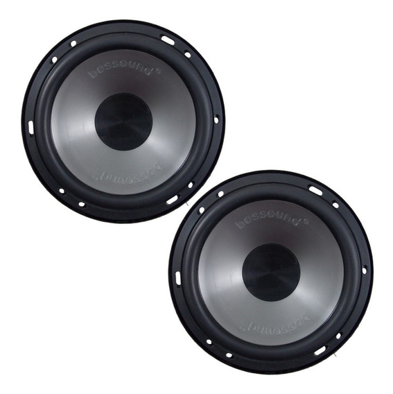 Par Alto Falante Mid Bass Bossound Bs16-mb 200w Rms 4 Ohms