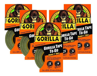Kit 5 Fitas Aro Tubeless Profissional Gorilla Tape -25mm Nf