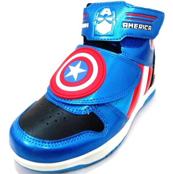 Botita Marvel Capitan America Con Abrojo
