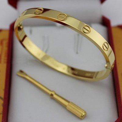 Pulseira Bracelete Cartier Love Dourado