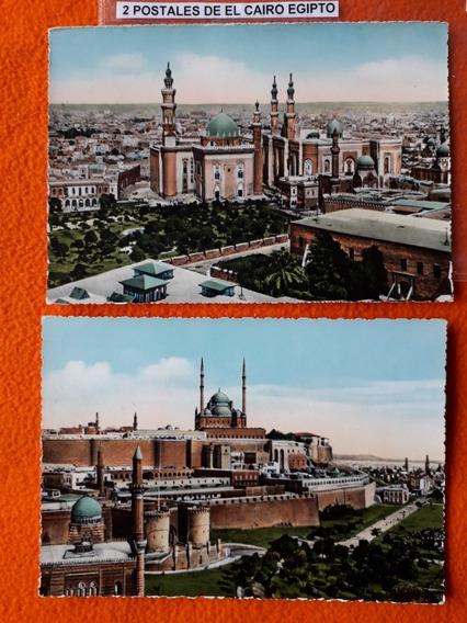 2 Antiguas Postales De La Ciudad De El Cairo Egipto