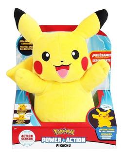 Pokemon Pikachu Peluche Con Luz Y Sonido Original