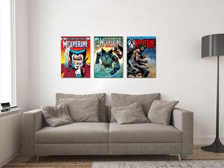 Kit 3 Poster Mdf Capas Hq Marvel Wolverine Logan X-men
