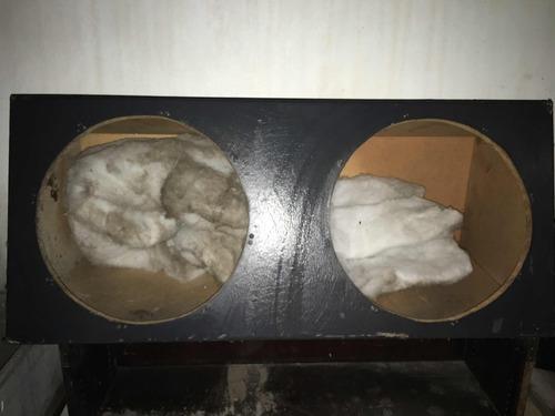 Caja Cajón Sellado Guata Semicuero Gris Sub Bajo 15 Pulgadas