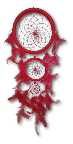 Filtro Dos Sonhos Com Penas Vermelho Ref: 0280