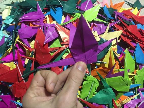Grullas Origami Y Cortinas (precio X 500)