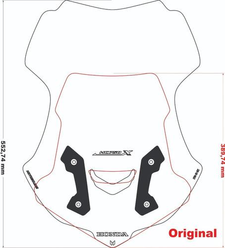 Moto Bolha Honda Nc750x Alongada 53 Cm Cristal/fume