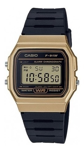 Relógio Casio Vintage Unisex F-91wm-9adf