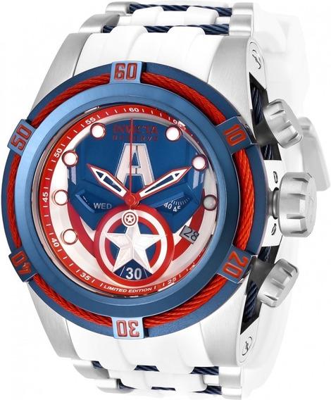 Relógio Invicta 27046 Prata Capitão América ## Marvel