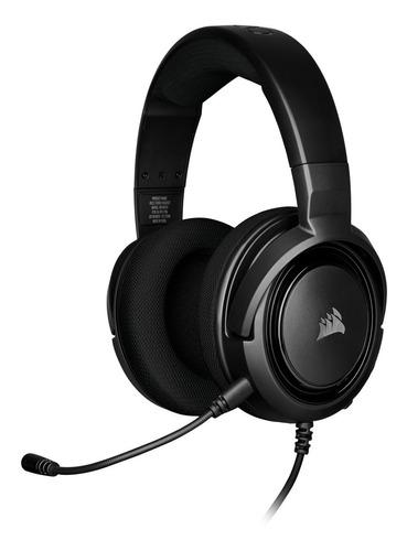 Imagen 1 de 4 de Auriculares Corsair Hs35 Stereo Cable Black Pc Ps4 Xbox