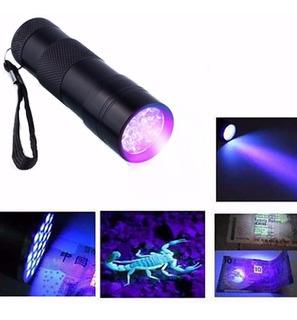 Lanterna 9 Led Uv Lanterna Luz Negra