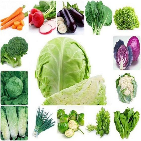630 Sementes Kit Verduras E Legumes 18 Espécies