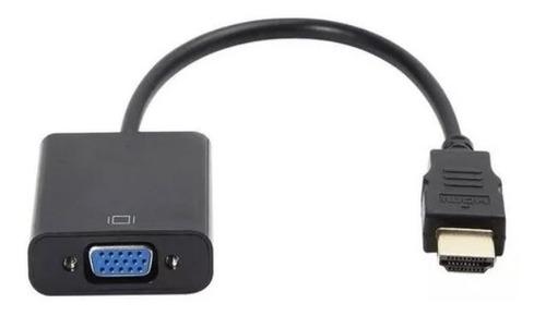 Imagen 1 de 5 de Cable Convertidor De Hdmi A Vga Pc Laptop Tv Monitor Pasivo