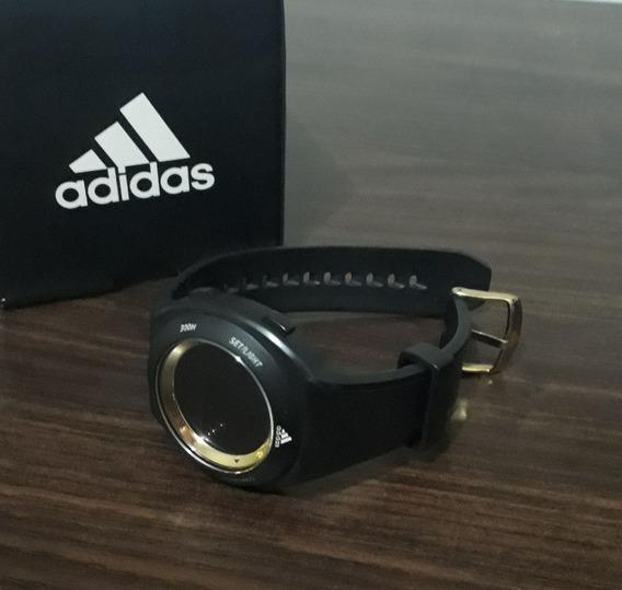 Relógio adidas Original Preto Com Dourado A Prova D