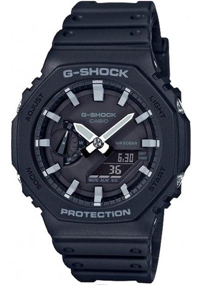 Relogio Casio G-shock Carbon Core Guard Ga-2100-1adr + Nfe