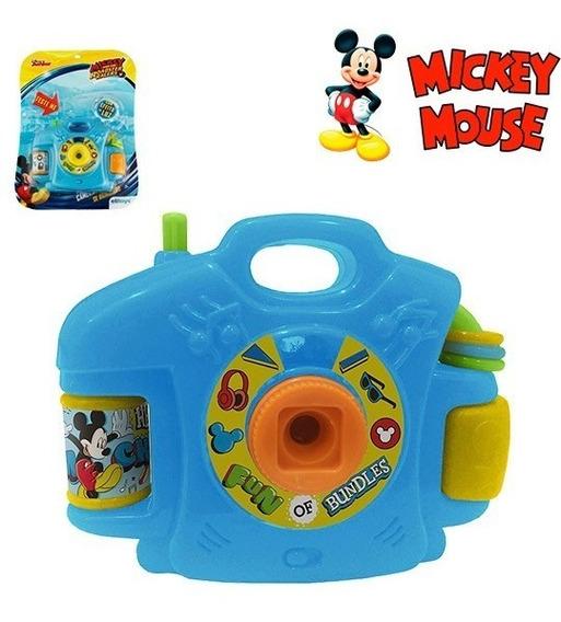 Camera Fotografica Infantil Com Luz E Imagem Mickey
