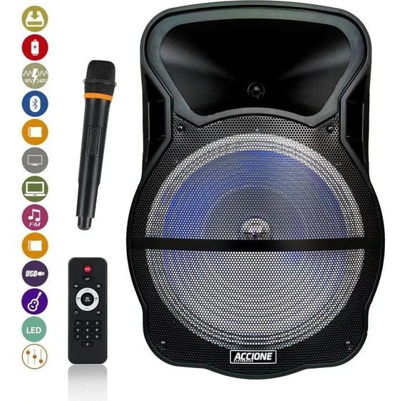 Caixa De Som Amplificada 15 Pol. Cam800bt Bluetooth/aux/usb