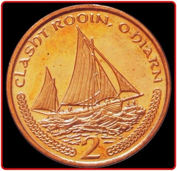 Isla De Man Moneda De 2 Pence Año 2000 Sin Circular