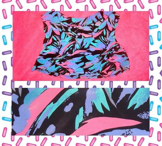 Musculosa Top Pupera Colorida Vintage De Los 90s Para Mujer