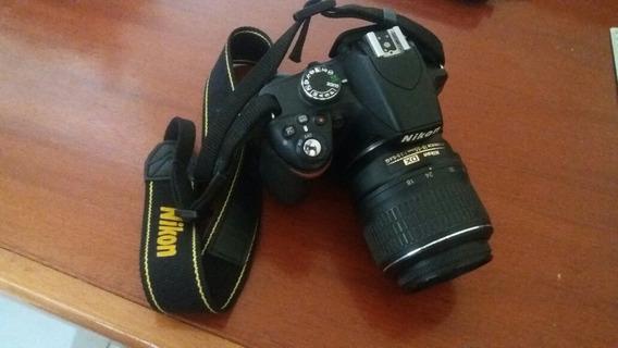 Câmera Nikon 3200 Lente 18/55ml Carregador Cartão Tripe