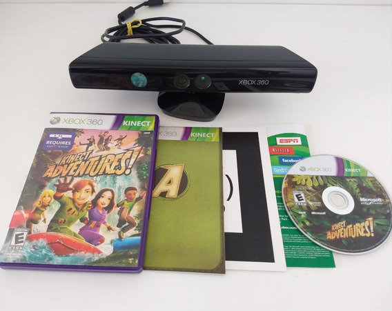 Kinect + Kinect Adventures Completo Original Xbox 360