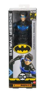 Muñeco Batman Missions Nightwing 30cm Mattel Original!!