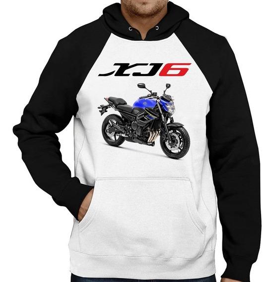 Moletom Moto Yamaha Xj6 N Azul