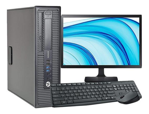 Computador Completo I7 8gb Ssd 120gb Monitor 20