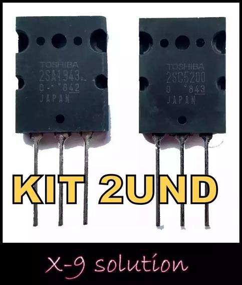 Kit 2pçs 2sc5200 Transistor Amplificador Toshiba