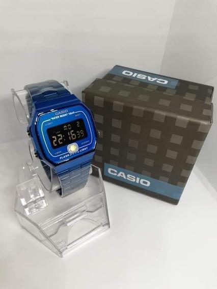 Reloj Casio Azul Metálico