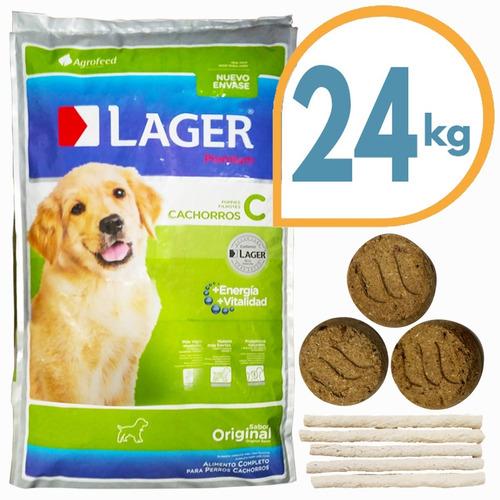 Imagen 1 de 2 de Comida Perro Cachorro Lager Premium 22 Kg + Envío Gratis