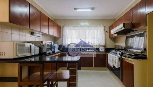 Imagem 1 de 30 de Sobrado Com 6 Dormitórios Para Alugar, 480 M² Por R$ 8.000,00/mês - Vila Bastos - Santo André/sp - So0772