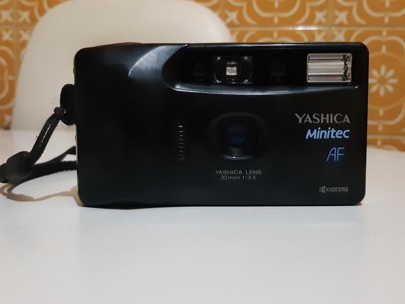 Câmera Analógica Máquina Fotográfica Yashica Minitec Af