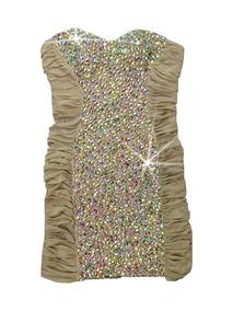 Vestido Pedraria Chique Instagram Panicat Curto Moda 2719