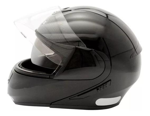 Capacete Moto C Oculos Peels Urban Classic Robocop Preto Fsc