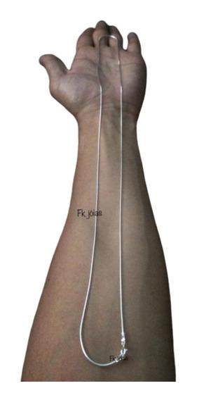 Cordão Rabo De Rato Prata 925 Legítima 70cm X 1mm